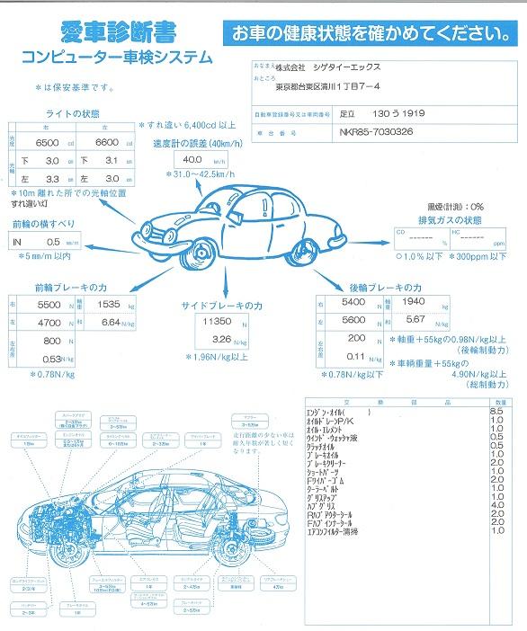 愛車診断書,点検,車両,トラック,3か月点検